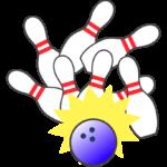 ボーリングのストライクのイラスト