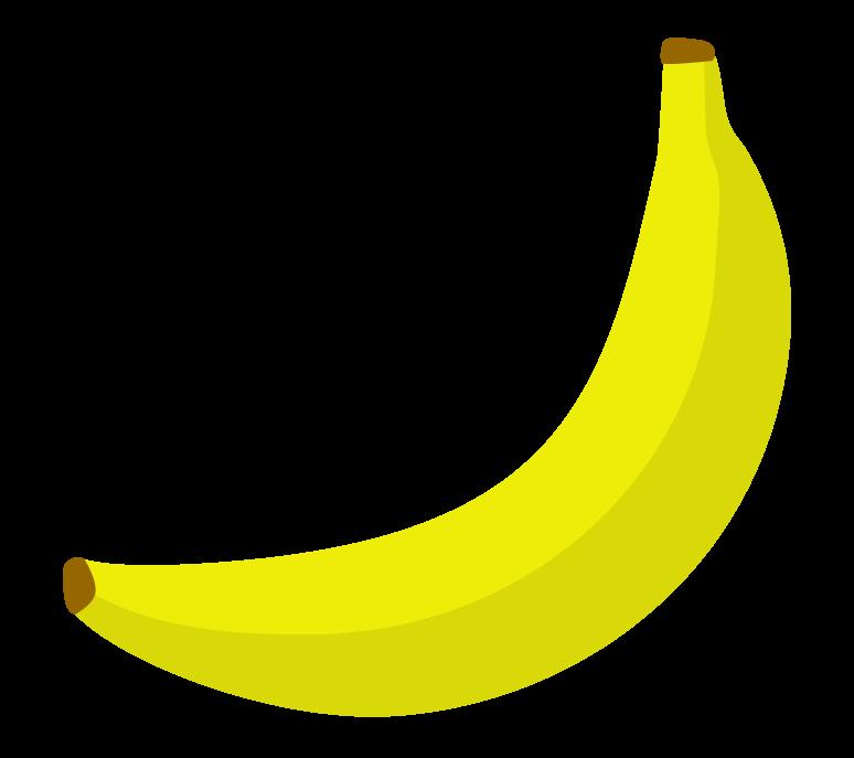 バナナ(1本)のイラスト