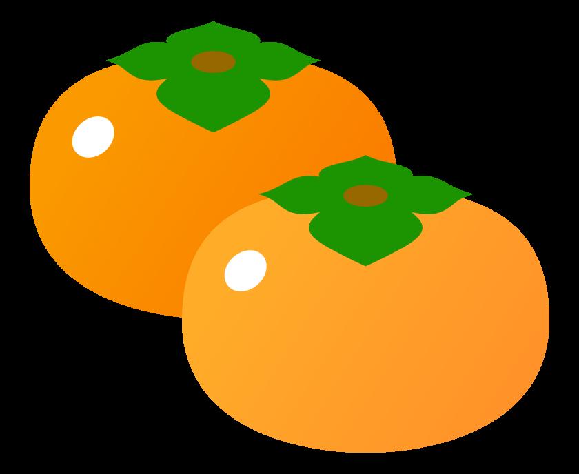 柿(2個)のイラスト