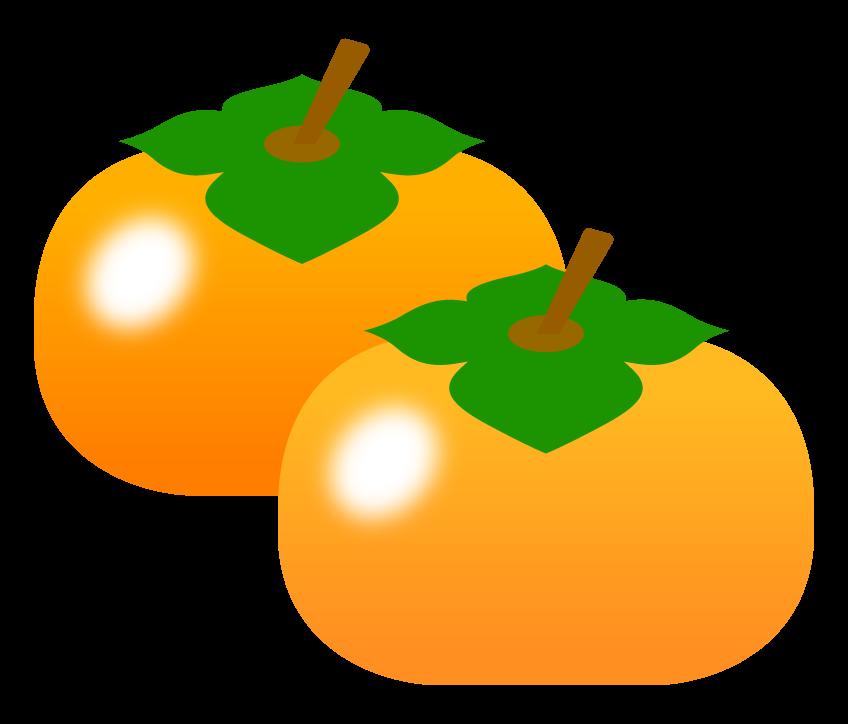 四角い柿(2個)のイラスト