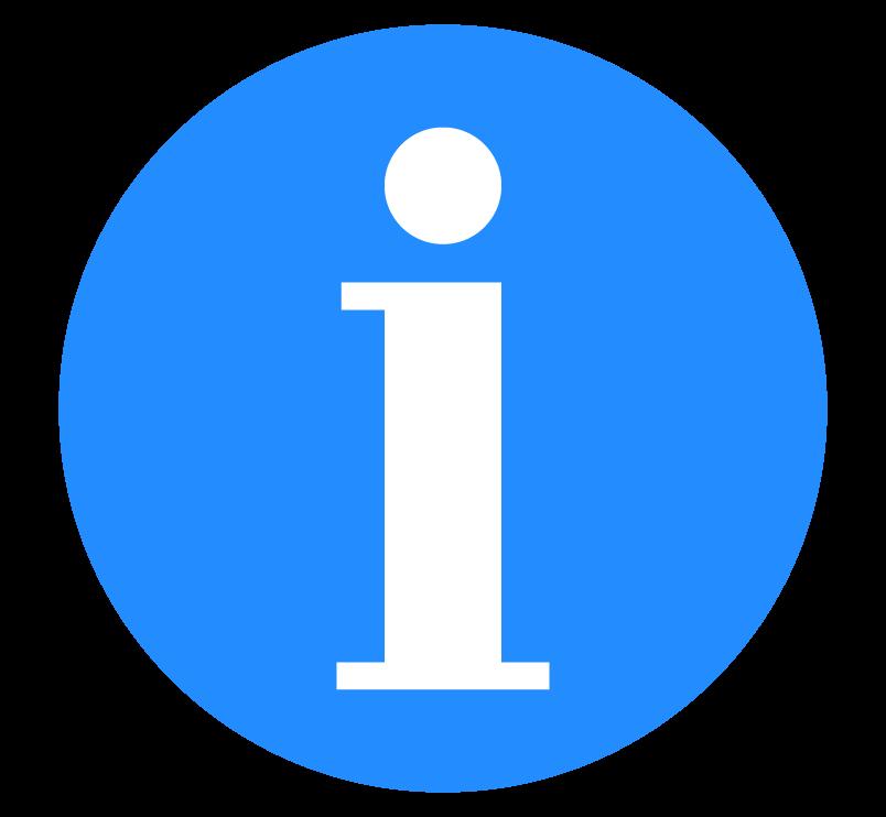 インフォメーションマーク(白抜き文字)のイラスト