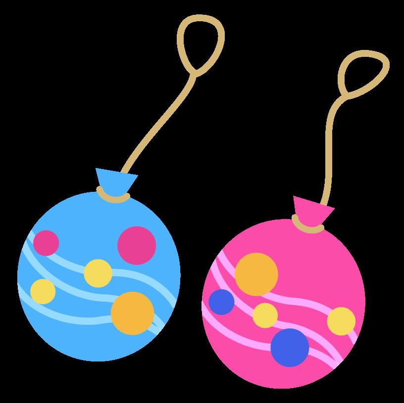 二つの水風船のイラスト