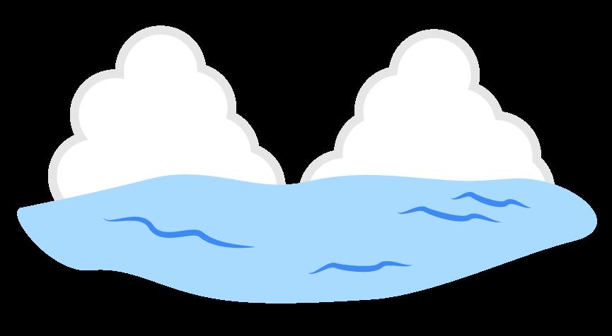 海と入道雲のイラスト