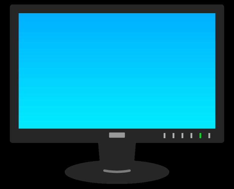 パソコンなどのモニターのイラスト