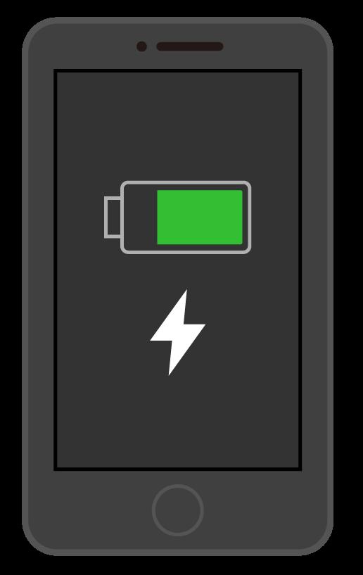 充電中のスマートフォン(スマホ)のイラスト02