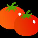 トマト(2つ)のイラスト
