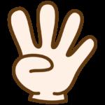 4本指のイラスト