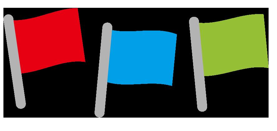 カラフルな旗のイラスト