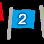 数字の入った旗のイラスト