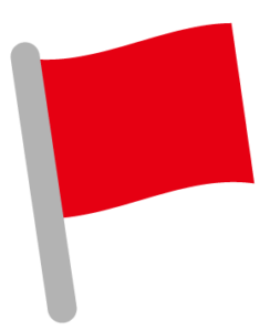 赤い旗のイラスト