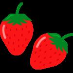 ツヤツヤのいちご(苺)のイラスト