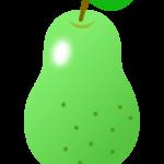 緑色の洋梨のイラスト