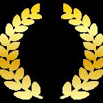 金の月桂樹(月桂冠)のイラスト