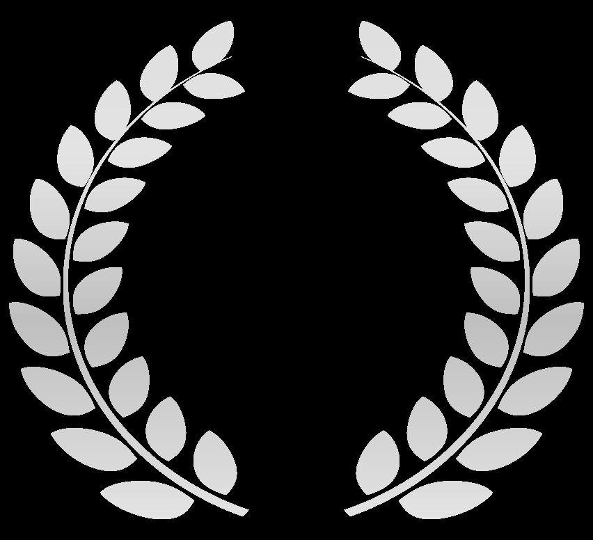 銀の月桂樹(月桂冠)のイラスト