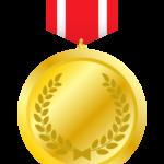 メダル(ゴールド)のイラスト