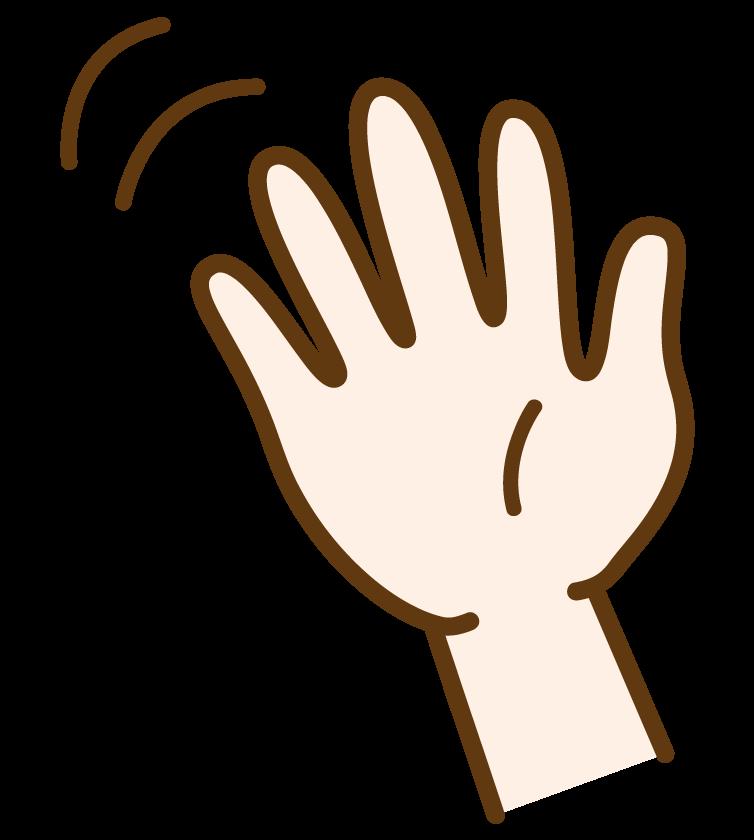 手を振る・バイバイのイラスト02