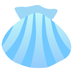 青い貝のイラスト