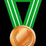 銅メダルのイラスト