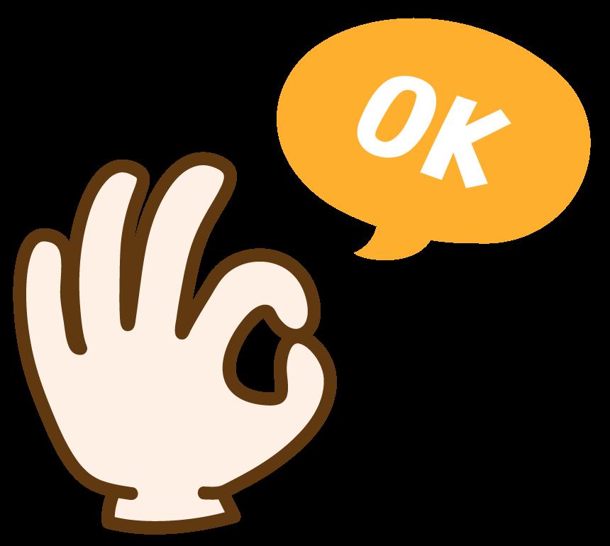 指でOKサインのイラスト02