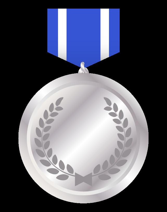 メダル(シルバー)のイラスト