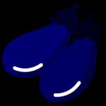 茄子(2個)のイラスト