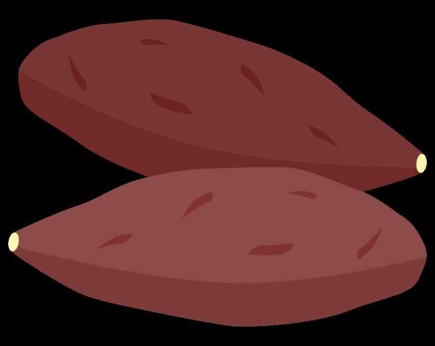 サツマイモ(2つ)のイラスト