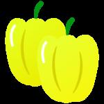 黄色いパプリカ(2個)のイラスト