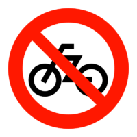 駐輪禁止マークのイラスト