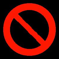 土足禁止マークのイラスト