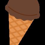 チョコのアイスクリームのイラスト