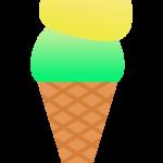 ダブルのアイスクリームのイラスト
