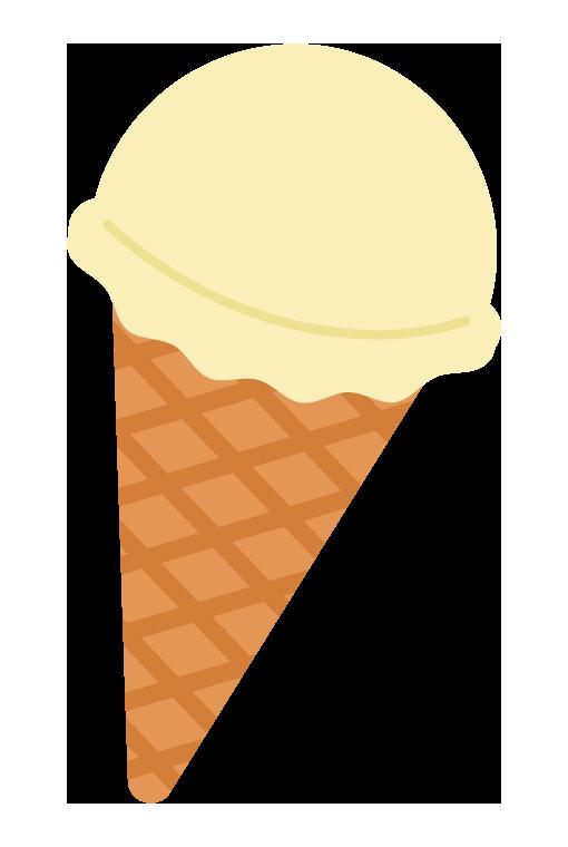 バニラのアイスクリームのイラスト