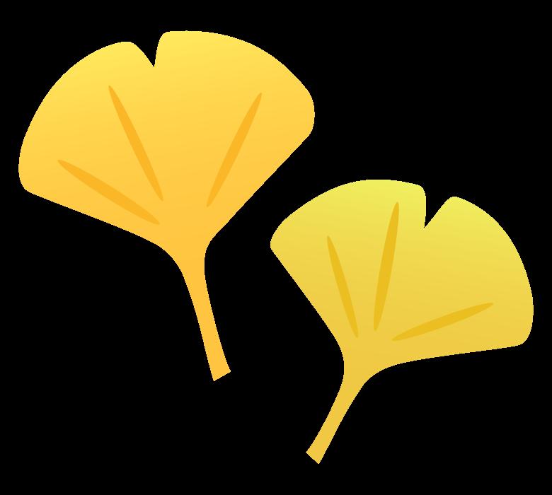 イチョウの葉のイラスト02