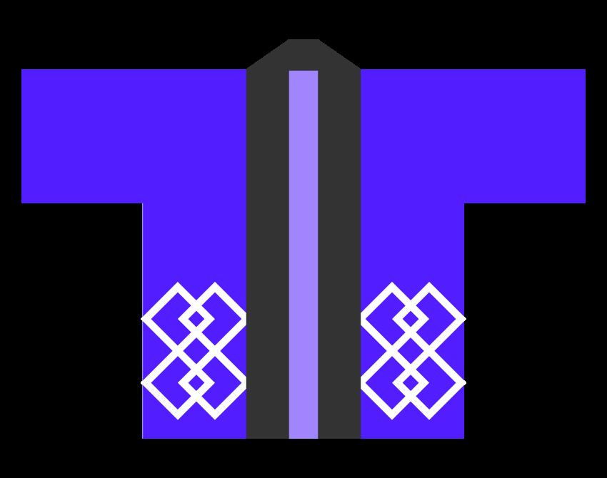 青いハッピ(法被)のイラスト
