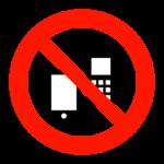 スマホ・携帯電話禁止マークのイラスト
