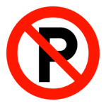 駐車禁止マークのイラスト