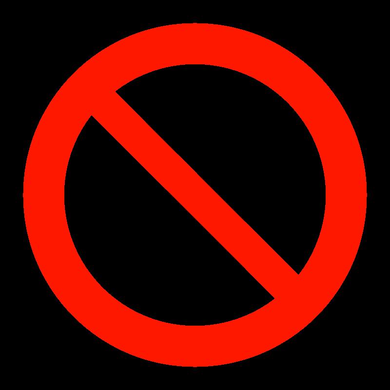 ペット禁止マークのイラスト02