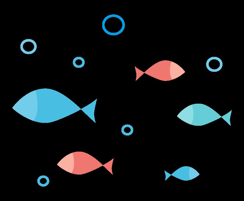 かわいい魚のイラスト02