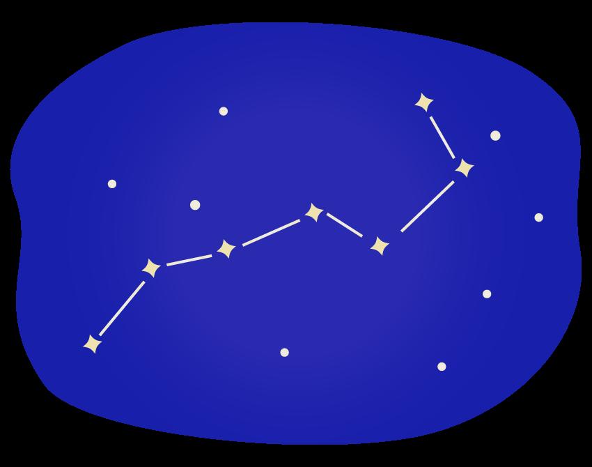 北斗七星のイラスト