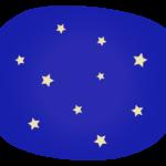 夜空と星のイラスト02