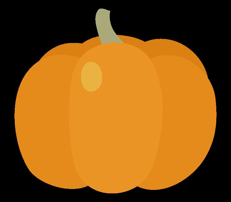 オレンジ色のカボチャのイラスト