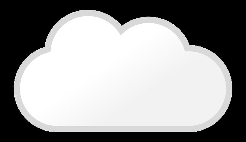 天気・曇のイラスト