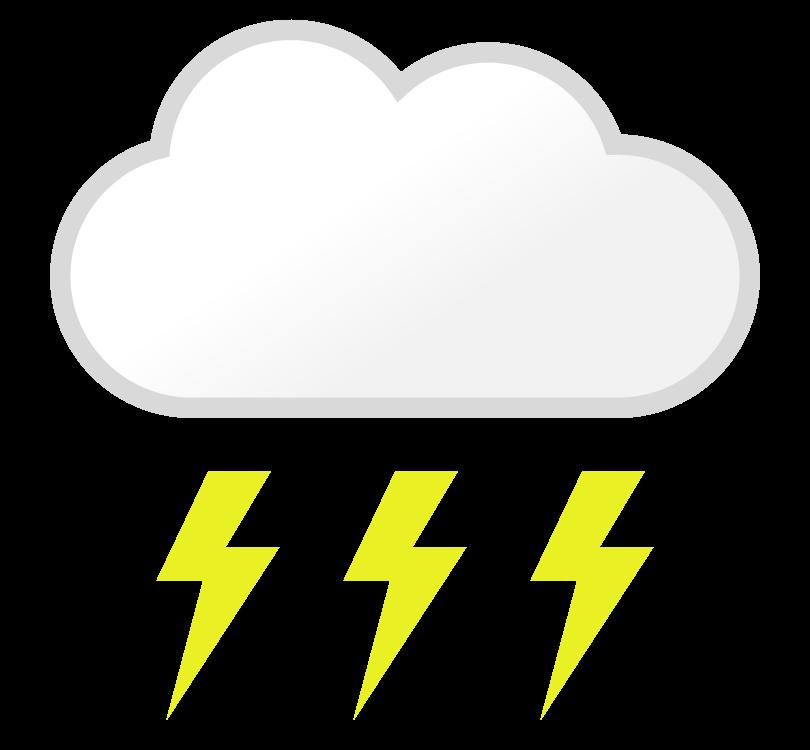 天気・雷のイラスト