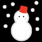 天気・雪のイラスト