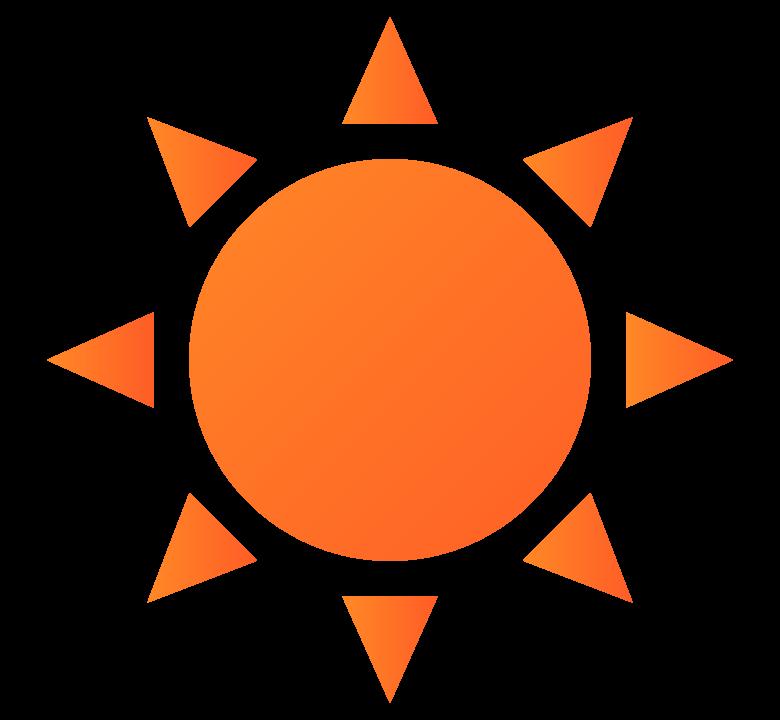 太陽・晴れのイラスト
