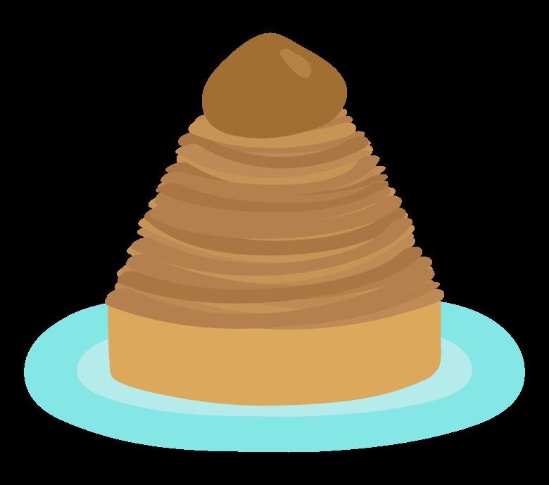 モンブランのケーキのイラスト