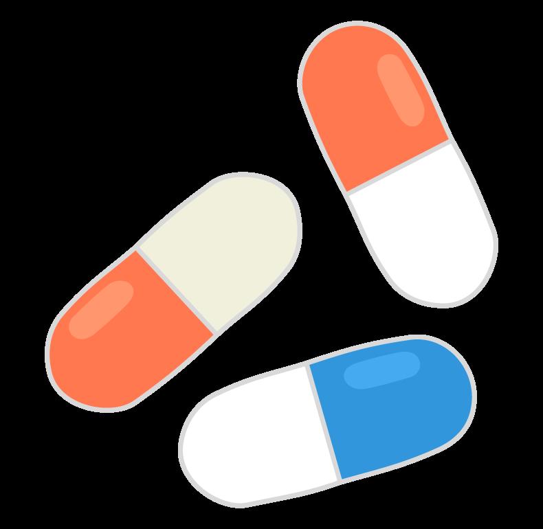 カプセルの薬のイラスト