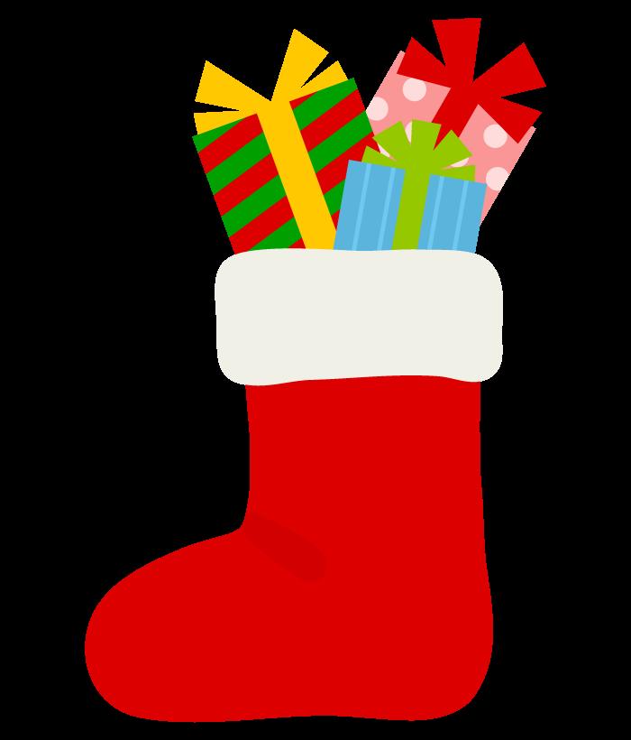 クリスマスブーツのプレゼントのイラスト