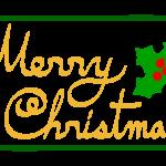 「MerryChristmas」の文字のイラスト