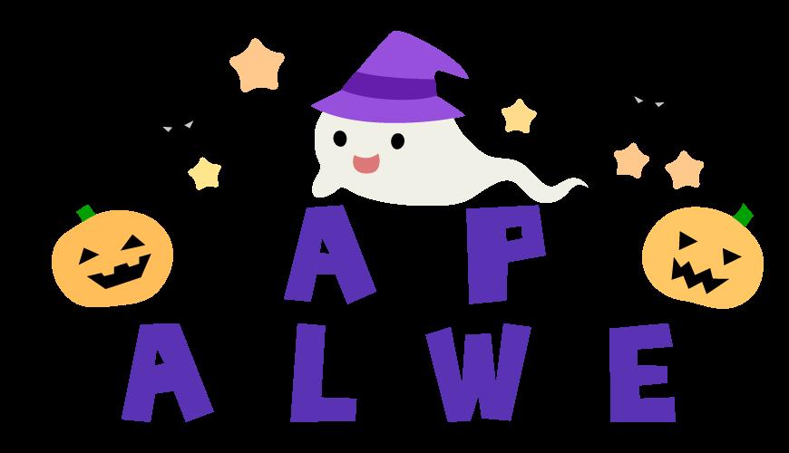 「HAPPY HALLOWEEN」の文字のイラスト02